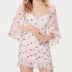 For Love and Lemons - Beaumont Cherry Mini Dress M